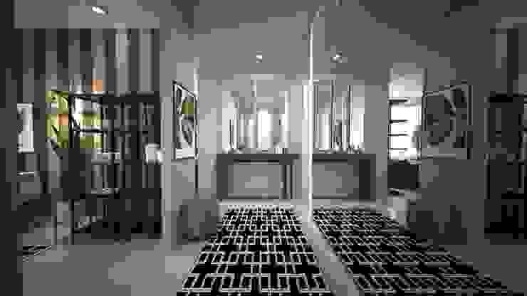Sinpaş Marina Projesi | Giriş Holü HAZER INTERIOR DESIGN STUDIO Modern Koridor, Hol & Merdivenler