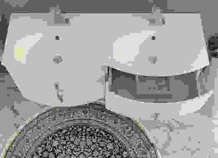 Arredo mobile da bagno moderno sospeso 138 cm con doppio ...