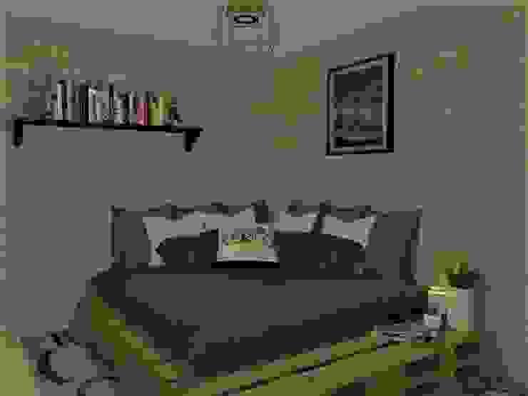 ESPACIO DE CAMA adc arquitectos Dormitorios pequeños Derivados de madera Blanco