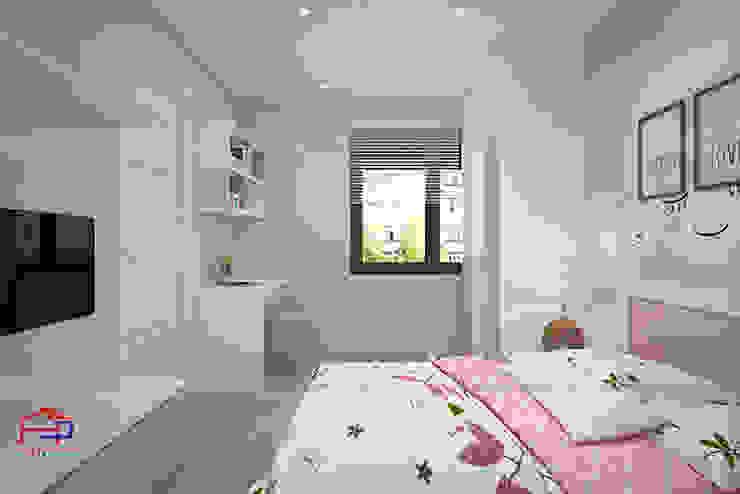 Hình ảnh 3D thiết kế không gian phòng ngủ bé gái nhà anh Long - Nguyễn Đức Cảnh: hiện đại  by Nội thất Hpro, Hiện đại