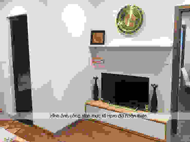 Hình ảnh thực tế không gian phòng ngủ master nhà anh Long - Nguyễn Đức Cảnh: hiện đại  by Nội thất Hpro, Hiện đại