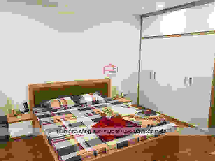 Hình ảnh thực tế không gian nội thất phòng ngủ master nhà anh Long - Nguyễn Đức Cảnh: hiện đại  by Nội thất Hpro, Hiện đại