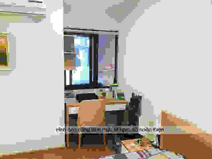 Hình ảnh thực tế không gian nội thất gỗ melamine phòng ngủ master nhà anh Long - Nguyễn Đức Cảnh: hiện đại  by Nội thất Hpro, Hiện đại