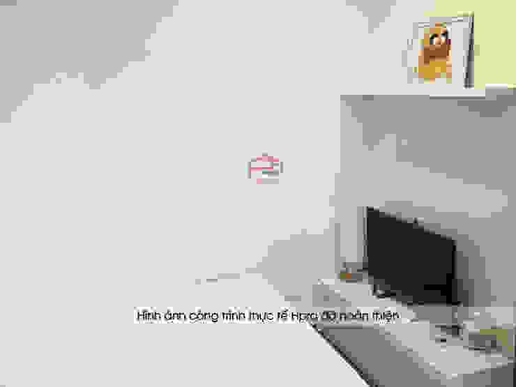 Hình ảnh thực tế không gian nội thất gỗ công nghiệp melamine trong phòng ngủ của bé gái nhà anh Long - Nguyễn Đức Cảnh: hiện đại  by Nội thất Hpro, Hiện đại