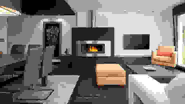Salón. Salas modernas de arQmonia estudio, Arquitectos de interior, Asturias Moderno