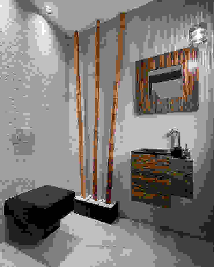 Aseo de cortesía. Baños modernos de arQmonia estudio, Arquitectos de interior, Asturias Moderno