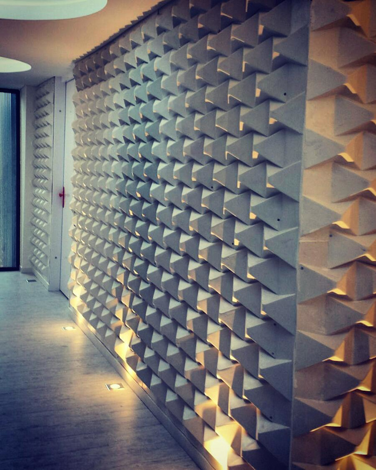 Modern walls & floors by O+C674 Arquitectos Modern Plastic