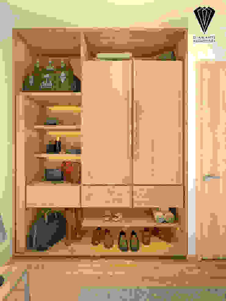 Closet vista 1 Vestidores minimalistas de Diamante Arquitectura Minimalista