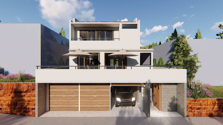 Fachada principal de Dubrovsky Arquitectura Moderno