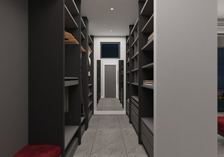 PRATIKIZ MIMARLIK/ ARCHITECTURE Dressing roomWardrobes & drawers