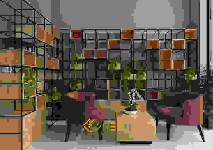 Văn phòng ShopHouse: hiện đại  by Công ty TNHH Thiết Kế Xây Dựng Xanh Hoàng Long, Hiện đại