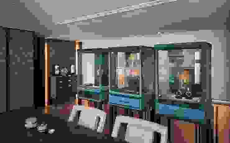 富壁寶鼎珠寶店|FBBD Jeweler 理絲室內設計有限公司 Ris Interior Design Co., Ltd. Office spaces & stores Copper/Bronze/Brass Blue