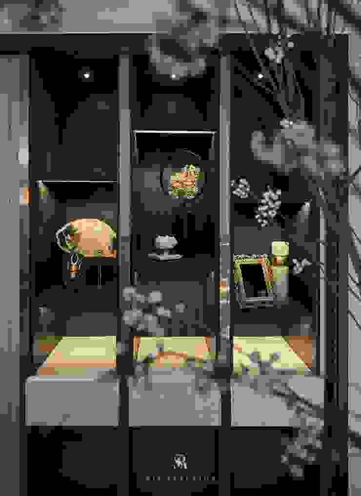富壁寶鼎珠寶店|FBBD Jeweler 理絲室內設計有限公司 Ris Interior Design Co., Ltd. 辦公空間與店舖 銅/青銅/黃銅 Wood effect