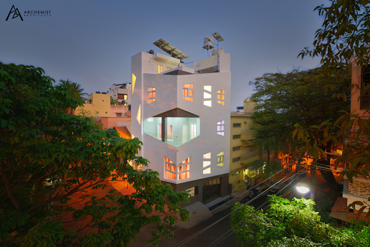 exterior elevation by Archemist Architects Minimalist