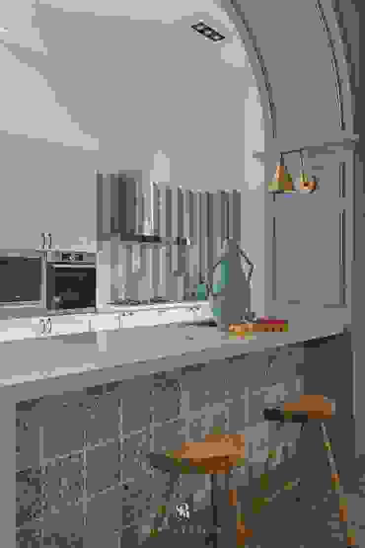 紛染.綿綿|Trochee of Tints 理絲室內設計有限公司 Ris Interior Design Co., Ltd. 小廚房 石板 Blue