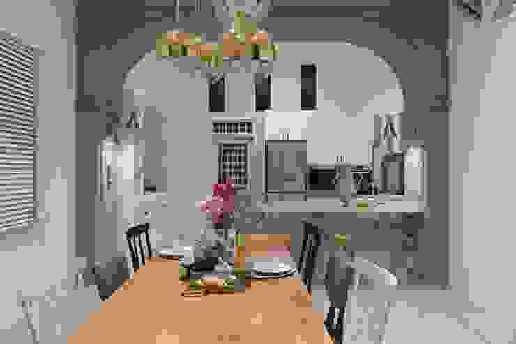 紛染.綿綿|Trochee of Tints 理絲室內設計有限公司 Ris Interior Design Co., Ltd. 小廚房 實木 Blue