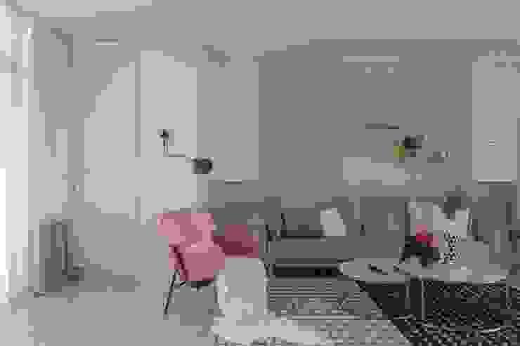 紛染.綿綿|Trochee of Tints 理絲室內設計有限公司 Ris Interior Design Co., Ltd. 客廳 複合木地板 Blue