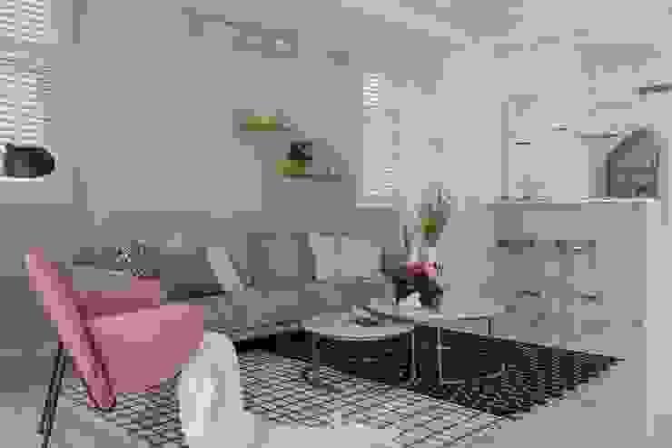 紛染.綿綿|Trochee of Tints 理絲室內設計有限公司 Ris Interior Design Co., Ltd. 客廳 金屬 Blue
