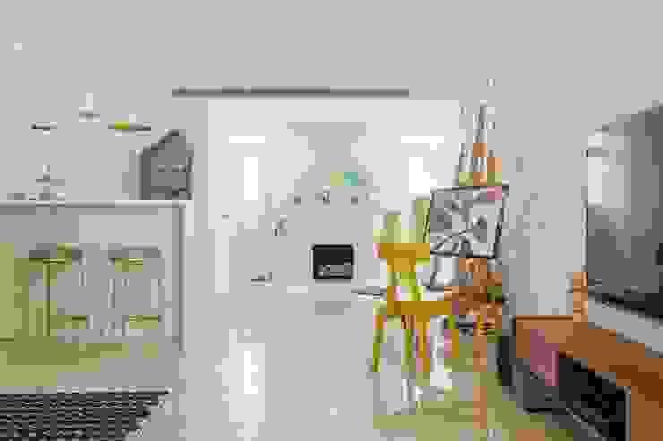 紛染.綿綿|Trochee of Tints 理絲室內設計有限公司 Ris Interior Design Co., Ltd. 客廳 實木 Yellow