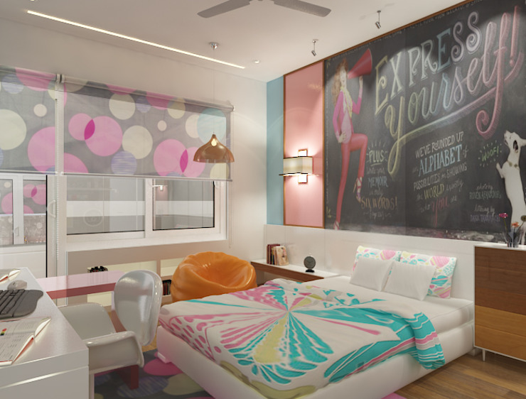 Eclectic style bedroom by Space Interface Eclectic