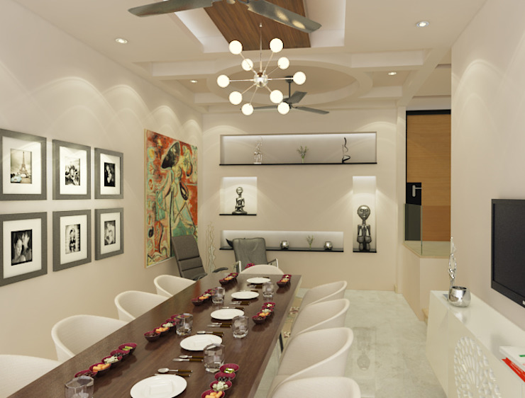 Eclectic style dining room by Space Interface Eclectic