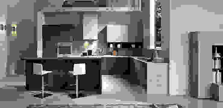 Cucina con Maniglie: Cucina attrezzata in stile  di L&M design di Marelli Cinzia,