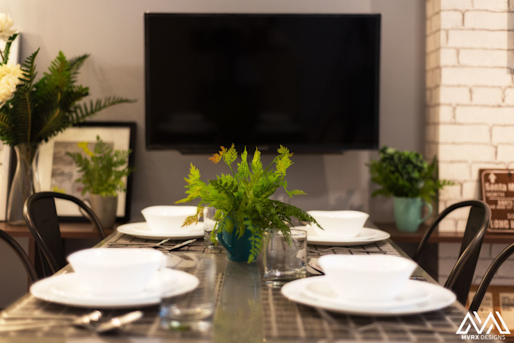 Nordic Urban Scandinavian style dining room by MVRX Designs Scandinavian