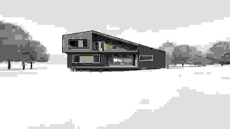 Diseño de Casa Rural en Coyhaique: Casas unifamiliares de estilo  por casa rural - Arquitectos en Coyhaique,