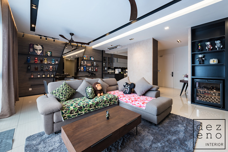 LIVING AREA by Dezeno Sdn Bhd Modern Plywood