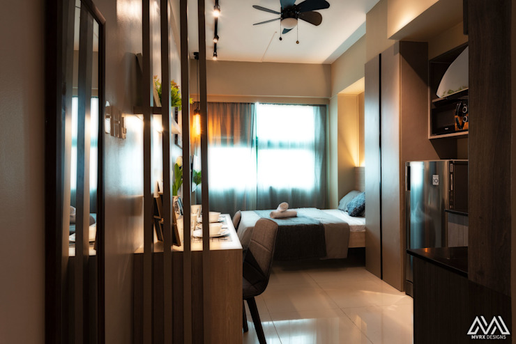 Warm & Cozy—The Symphony Tower 2 (QC) Modern style bedroom by MVRX Designs Modern