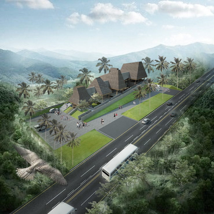 lawang arjuno Rumah Tropis Oleh midun and partners architect Tropis