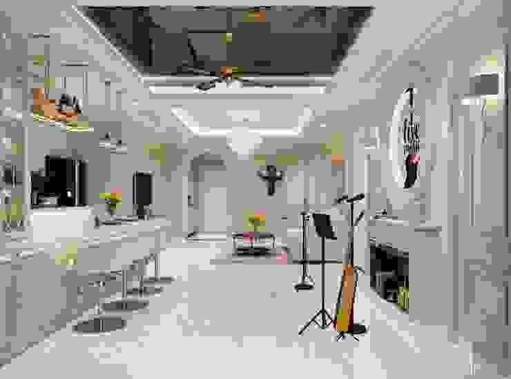 THIẾT KẾ TÂN CỔ ĐIỂN, CĂN HỘ PARK 5 – Nếu mỗi thiết kế là một bản nhạc… Phòng ăn phong cách kinh điển bởi ICON INTERIOR Kinh điển