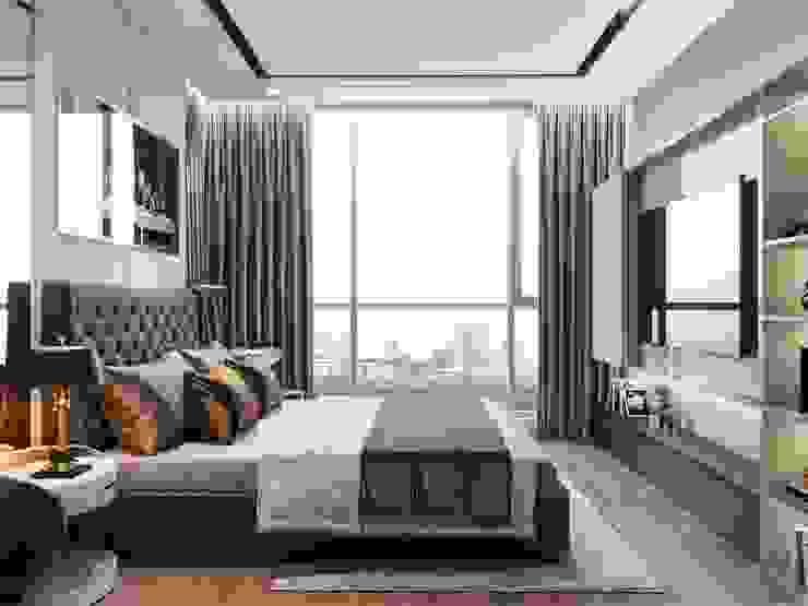 THIẾT KẾ TÂN CỔ ĐIỂN, CĂN HỘ PARK 5 – Nếu mỗi thiết kế là một bản nhạc… Phòng ngủ phong cách kinh điển bởi ICON INTERIOR Kinh điển