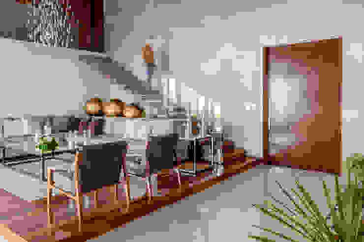 GENETICA ARQ STUDIO 现代客厅設計點子、靈感 & 圖片 木頭 Wood effect