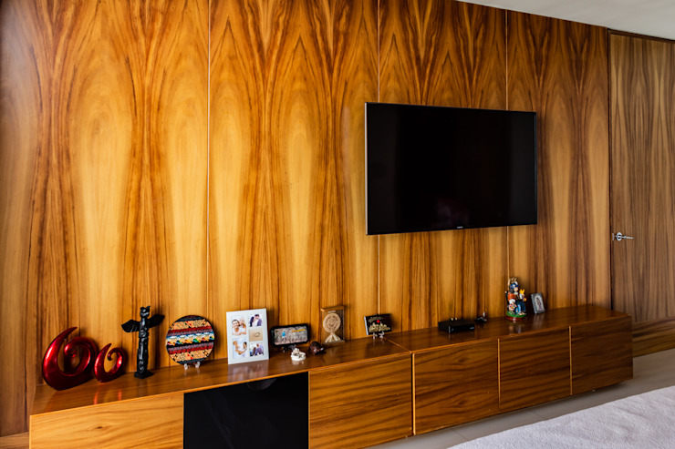 HABITACION Dormitorios modernos de GENETICA ARQ STUDIO Moderno Madera Acabado en madera
