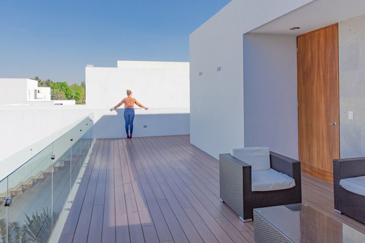 TERRAZA Balcones y terrazas modernos de GENETICA ARQ STUDIO Moderno