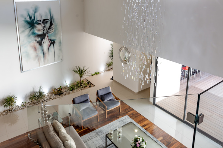 GENETICA ARQ STUDIO 現代風玄關、走廊與階梯