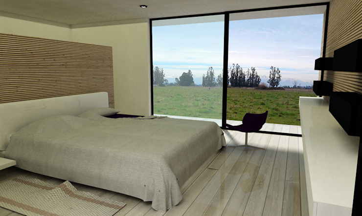 Casa ZH Dormitorios de estilo moderno de Vetas Sur Moderno