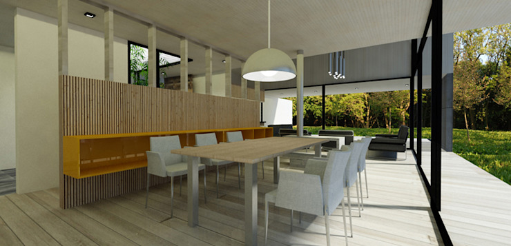 Casa ZH Comedores de estilo moderno de Vetas Sur Moderno