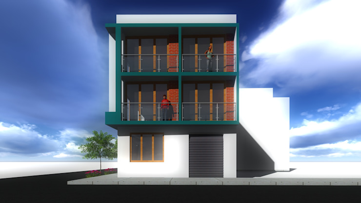 VIVIENDA COMERCIO Casas modernas: Ideas, diseños y decoración de DREARQ Moderno