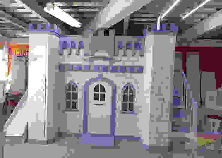 Grand Castillo Angelical de camas y literas infantiles kids world Clásico Derivados de madera Transparente