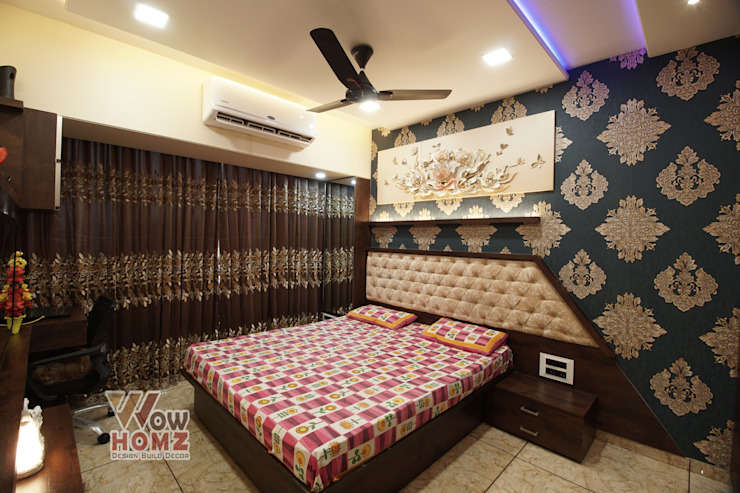 Master Bedroom by Wow Homz Modern Wood Wood effect