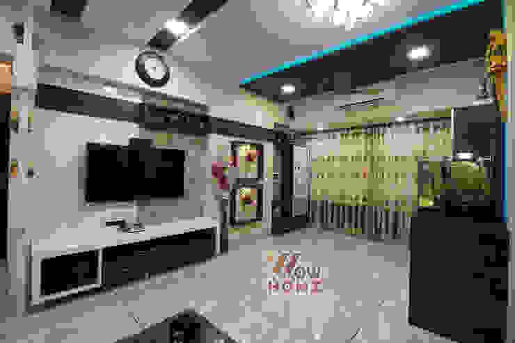 Living Room - TV Unit Modern living room by Wow Homz Modern Wood Wood effect