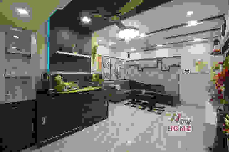 Living Room - Fish Tank Modern living room by Wow Homz Modern Wood Wood effect