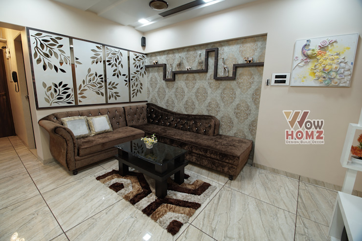 Living Room - Seating Area Modern living room by Wow Homz Modern Wood Wood effect