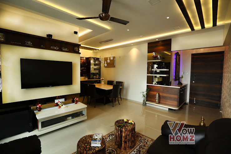 Living Room Modern living room by Wow Homz Modern Wood Wood effect