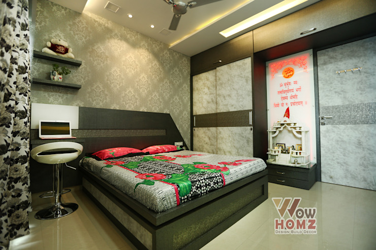 Guest Bedroom by Wow Homz Modern Wood Wood effect