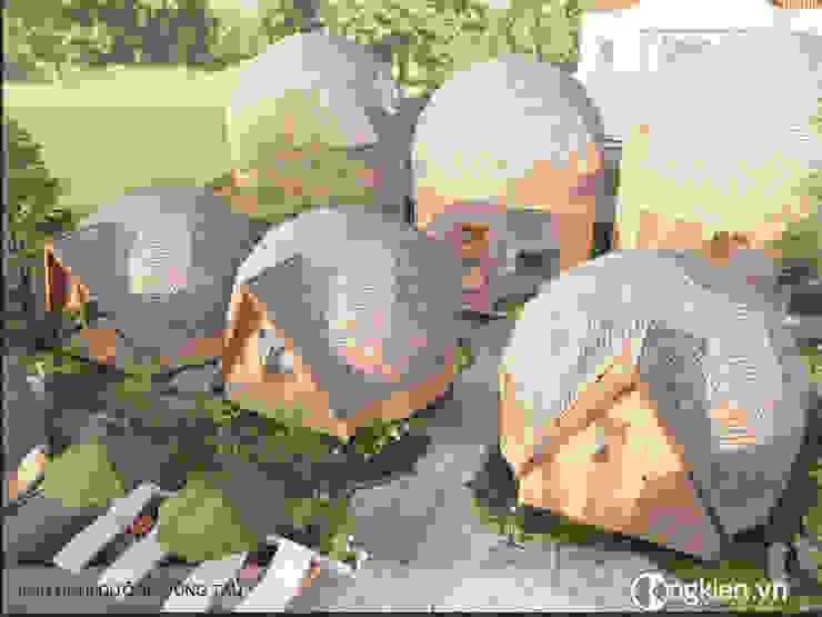 Phối cảnh resort bungalow ốc sên bởi Công ty TNHH Ông Kien