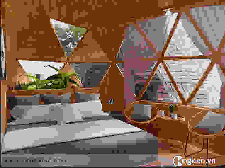 Thiết kế nội thất bungalow ốc sên bởi Công ty TNHH Ông Kien