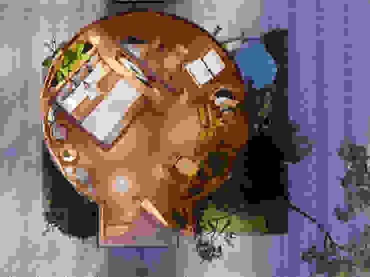 Phối cảnh nội thất bungalow ốc sên bởi Công ty TNHH Ông Kien